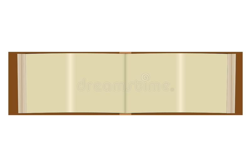 Blank book pages template stock vector  Illustration of middle