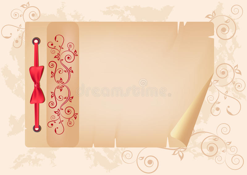 Download Album page with ornament. stock vector. Image of backdrop - 19958592