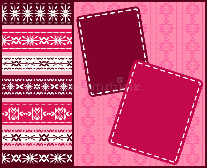 Download Album page for scrapbook. stock vector. Image of lace - 21161586