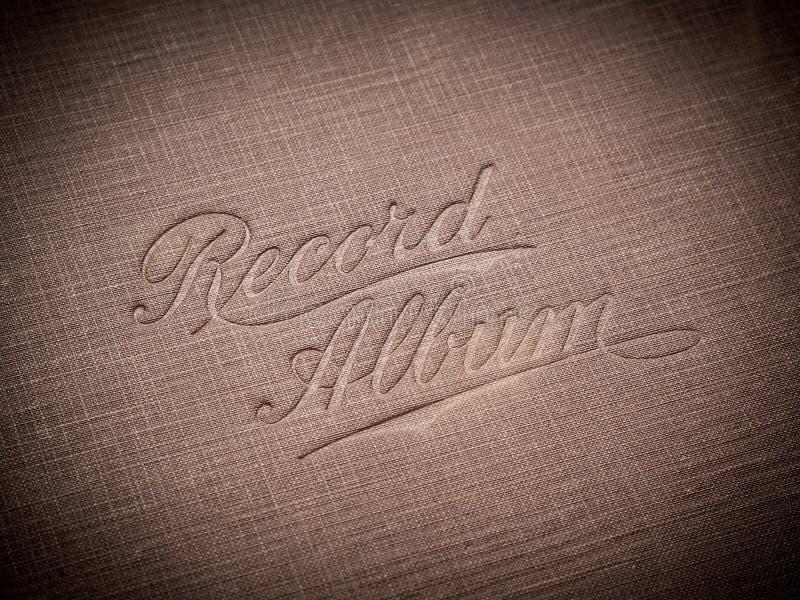 Album record photos stock