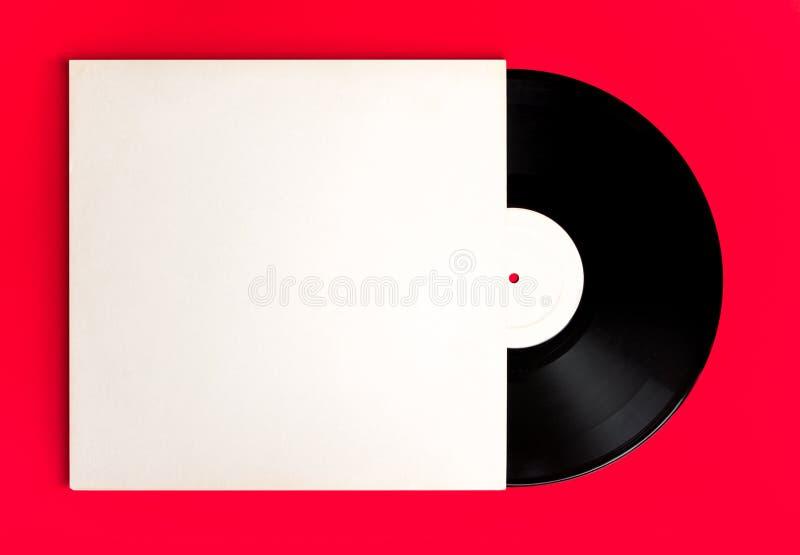 Album record et couverture vides illustration stock
