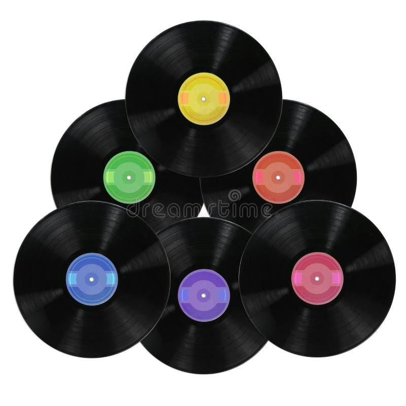 album registrerar vinyl royaltyfri fotografi