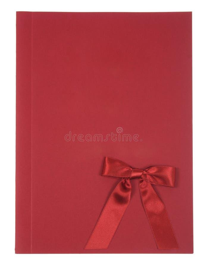 Album rouge photographie stock libre de droits