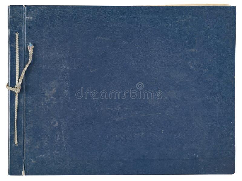 Album van de dekkings het oude blauwe foto voor foto's royalty-vrije stock afbeeldingen