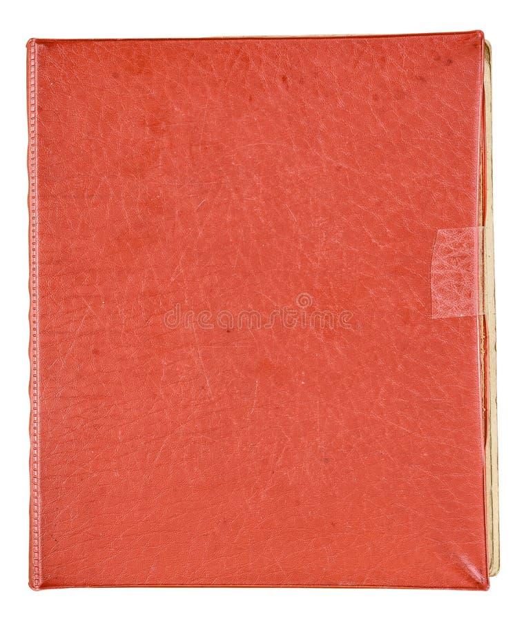 Album van de dekkings het oude rode foto voor foto's stock afbeelding
