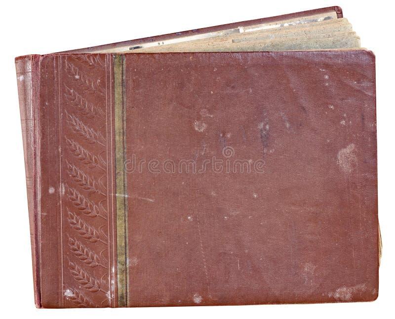 Album van de dekkings het oude rode foto voor foto's royalty-vrije stock afbeeldingen