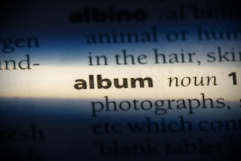 Album stock afbeelding