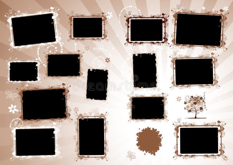 albumowa projekta strony fotografia ilustracja wektor