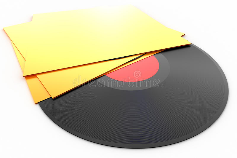 albumowego czarny dyska lp dokumentacyjny winyl ilustracji