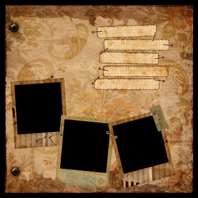 albumsidatappning arkivbild