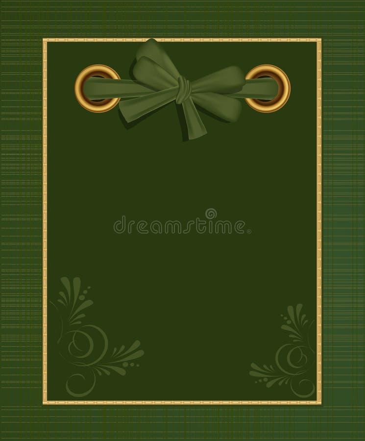 albumu zielony powitania fotografii wektor royalty ilustracja