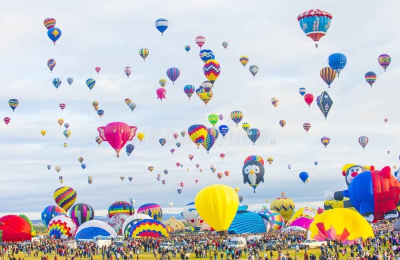 Albuquerque ballongFiesta arkivfoto