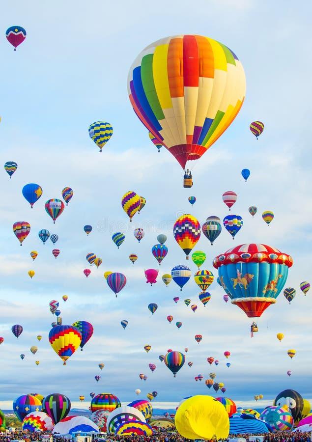 Albuquerque ballongFiesta royaltyfria bilder