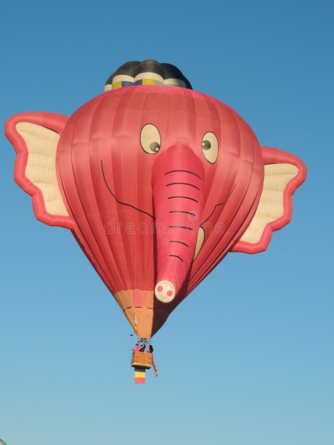 Albuquerque Balloon Fest Shapes Crazy Elephant stock photos