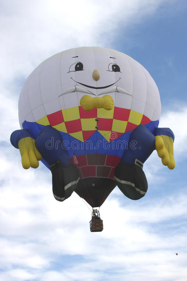Albuquerque Balloon Fest Shapes Humpty Dumpty stock photos