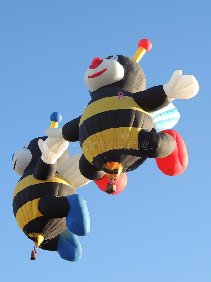 Albuquerque Balloon Fest Special Shapes The Bees stock photos