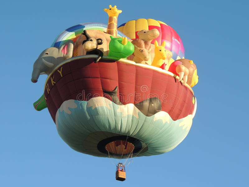 Albuquerque Balloon Fest Special Shapes Noahs Ark royalty free stock images
