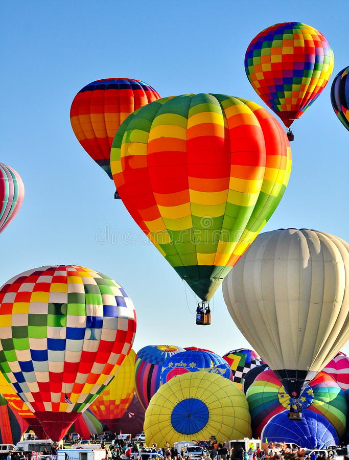 Albuquerque Balloon Festival in New Mexico. This is a picture taken at the Albuquerque Balloon Festival stock images