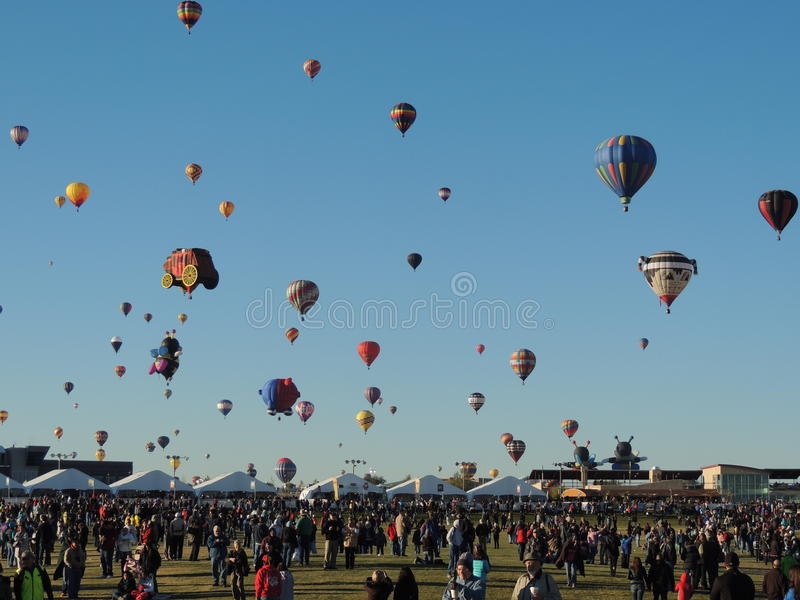 Albuquerque Balloon Fiesta Farewell Mass Ascension royalty free stock images