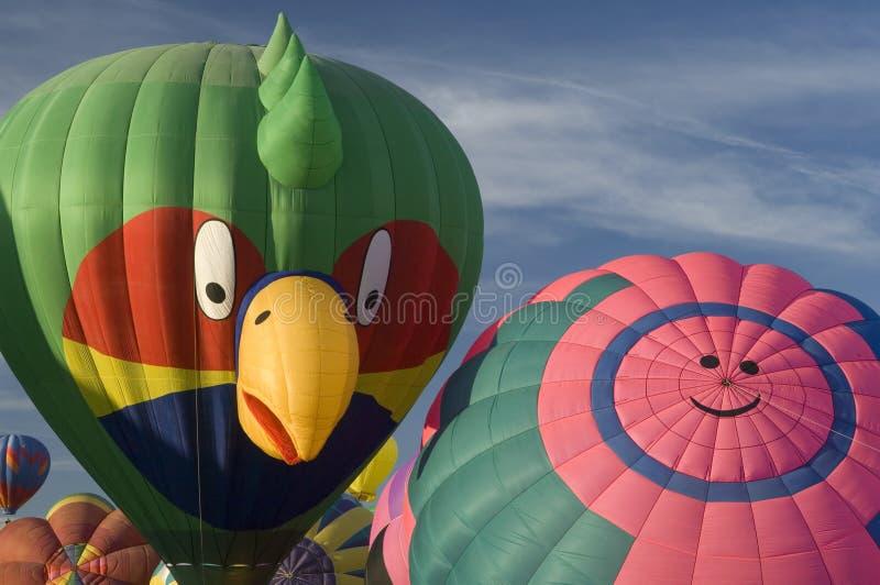 Albuquerque International Balloon Festival. Hot air balloons participating in the Albuquerque New Mexico International Balloon Fiesta. See others in this series stock photos