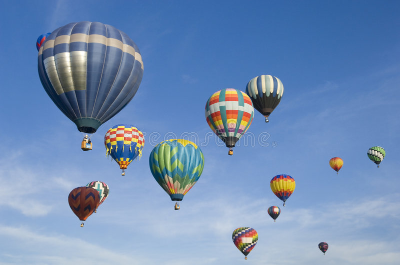 Albuquerque International Balloon Festival. Hot air balloons participating in the Albuquerque New Mexico International Balloon Fiesta. See others in this series royalty free stock photography