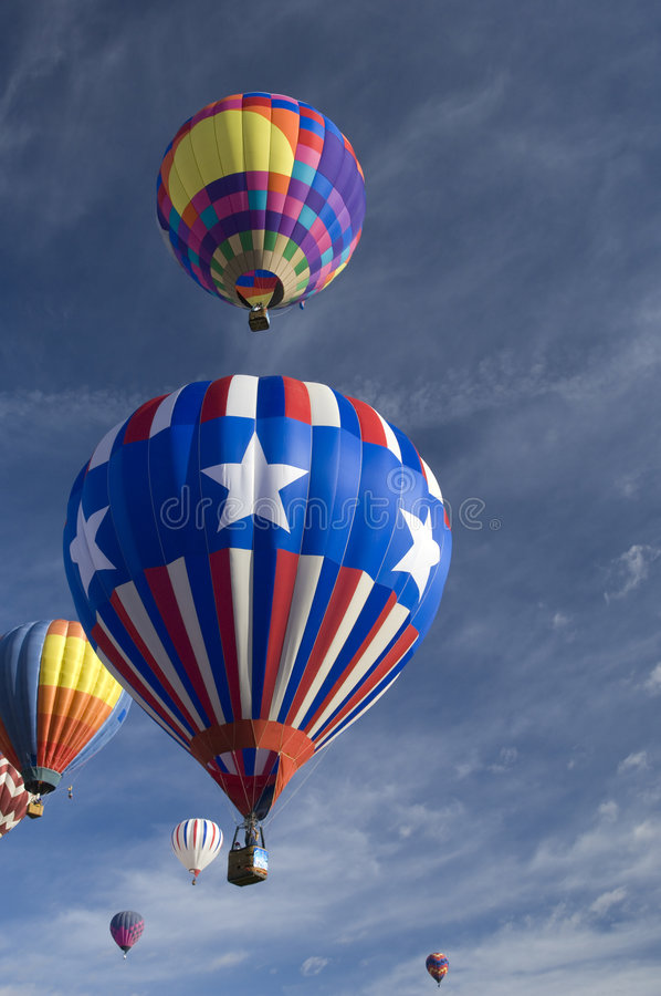 Albuquerque International Balloon Festival. Hot air balloons participating in the Albuquerque New Mexico International Balloon Fiesta. See others in this series stock image