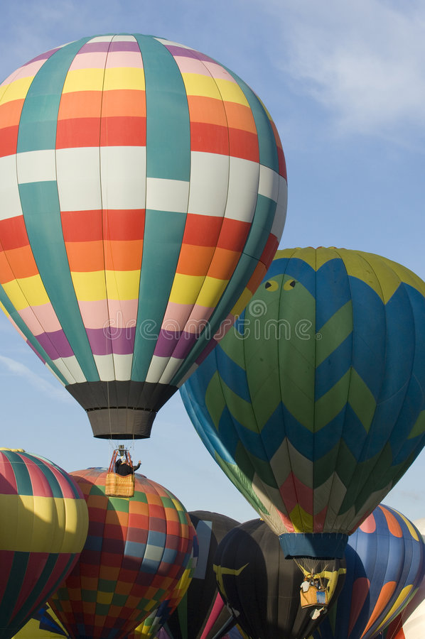 Albuquerque International Balloon Festival. Hot air balloons participating in the Albuquerque New Mexico International Balloon Fiesta. See others in this series royalty free stock photo