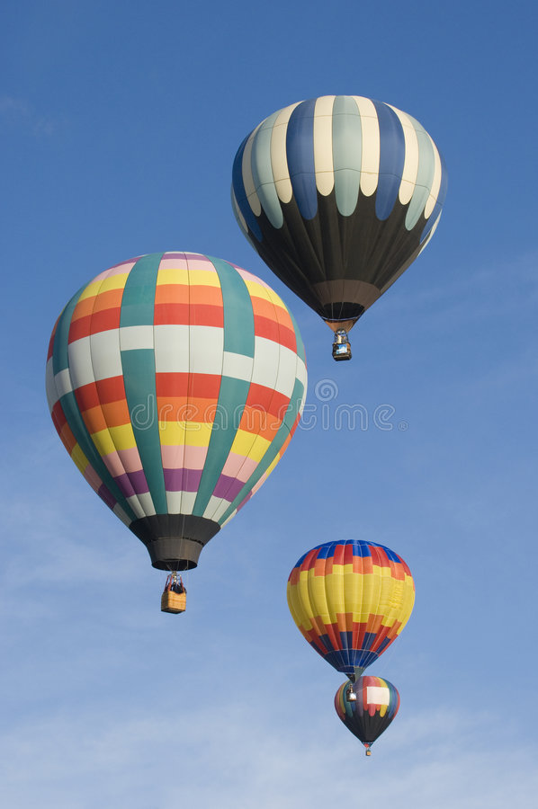 Albuquerque International Balloon Festival. Hot air balloons participating in the Albuquerque New Mexico International Balloon Fiesta. See others in this series royalty free stock images