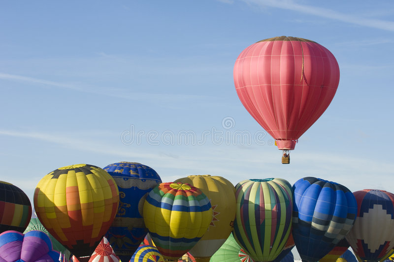 Albuquerque International Balloon Festival. Hot air balloons participating in the Albuquerque New Mexico International Balloon Fiesta. See others in this series stock photo