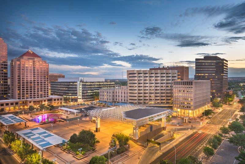 Albuquerque, New Mexico, paesaggio urbano di U.S.A. fotografie stock libere da diritti