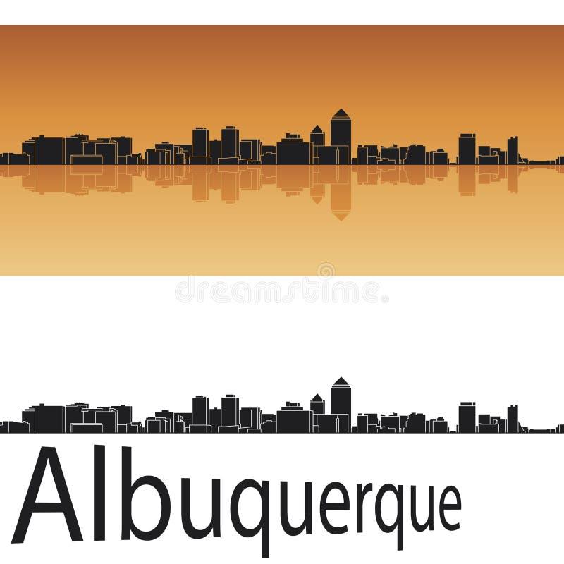 Albuquerque skyline stock illustration