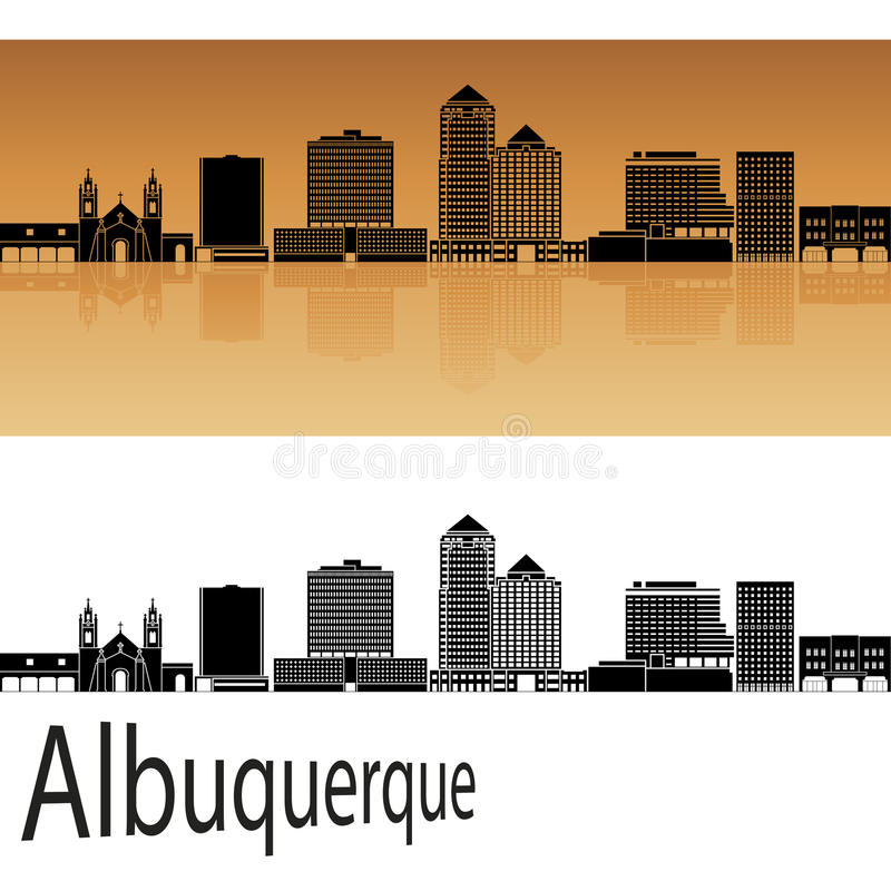Albuquerque V2 skyline vector illustration