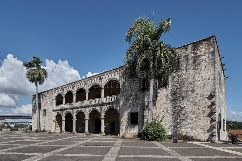 Colonial house of the son of Christopher Columbus Santo Domingo Dominican Republic. stock photos