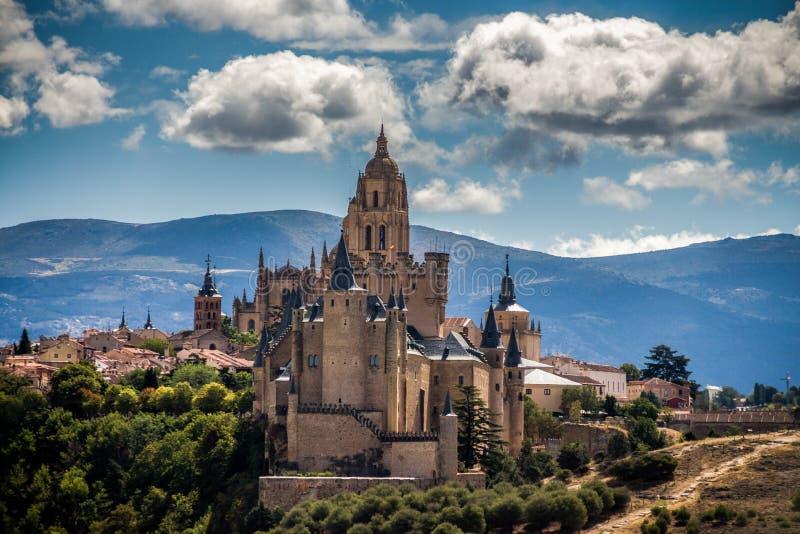 The Alcázar of Segovia in Spain stock photos