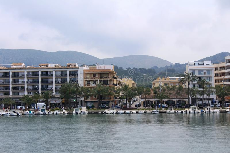 Port d`Alcúdia, in Mallorca. Alcúdia is a municipality and township of the Spanish autonomous community of the Balearic Islands. It is the main tourist royalty free stock photography
