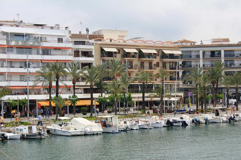Port d`Alcúdia, in Mallorca. Alcúdia is a municipality and township of the Spanish autonomous community of the Balearic Islands. It is the main tourist royalty free stock photo