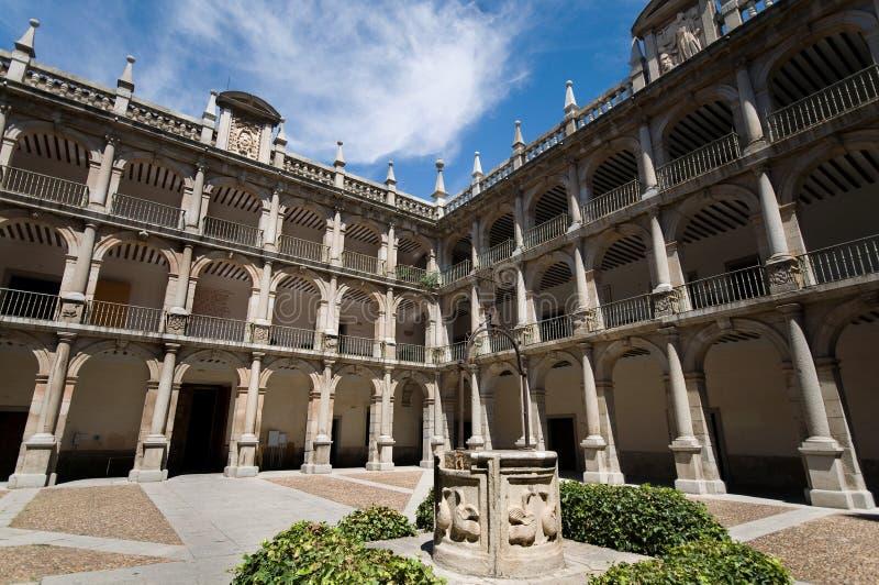 alcala de henares madrid spain universitetar royaltyfri bild