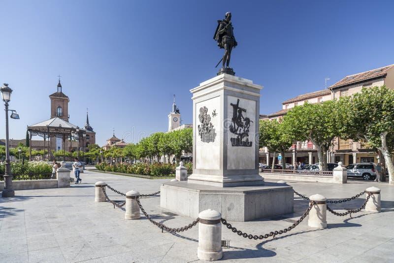 Alcala de Henares, Madrid, Spanien royaltyfri fotografi