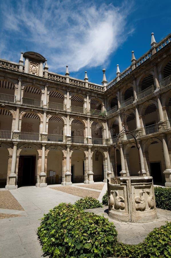 Alcala DE Henares Universiteit. Madrid, Spanje royalty-vrije stock foto's