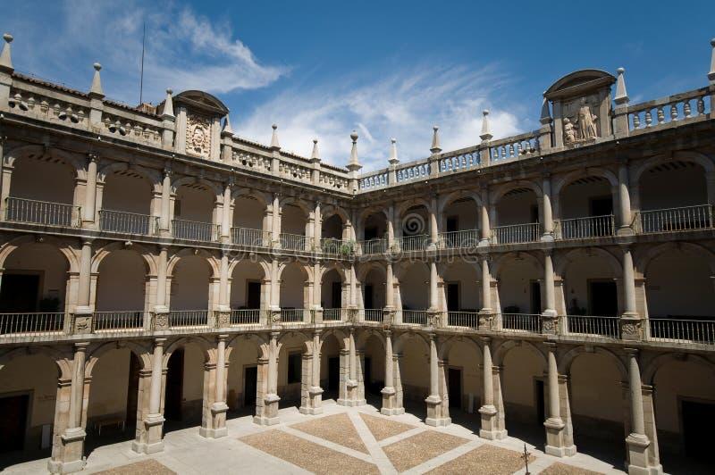 Alcala DE Henares Universiteit. Madrid, Spanje stock foto