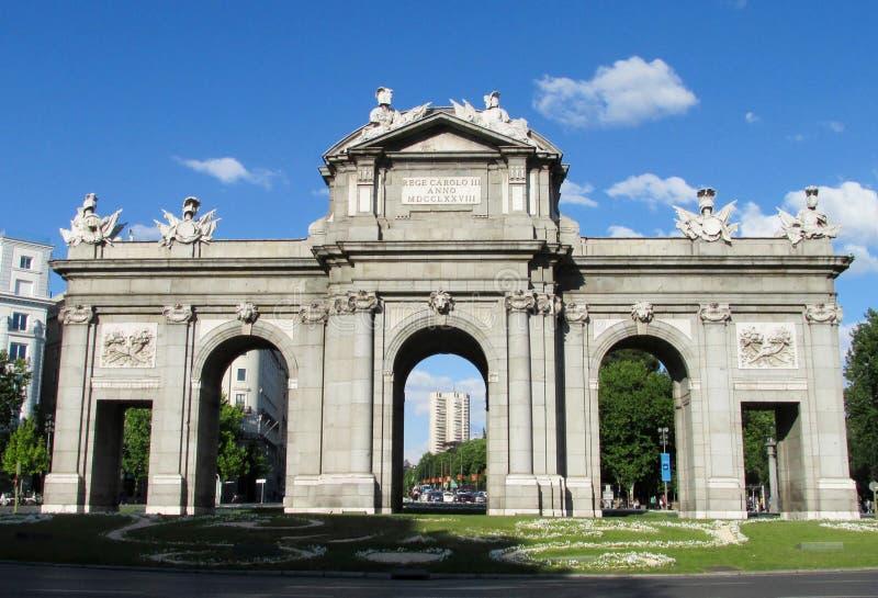alcala de Madrid puerta Spain zdjęcie stock