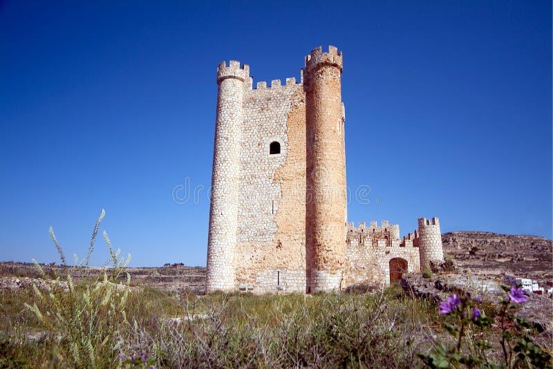 Alcala del Jucar (Albacete) in Spain. Alcala del Jucar (Albacete) rural town, top 100 most beautiful villages in Spain royalty free stock images