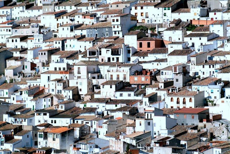 Alcala del Jucar (Albacete) in Spain. Alcala del Jucar (Albacete) rural town, top 100 most beautiful villages in Spain stock photo