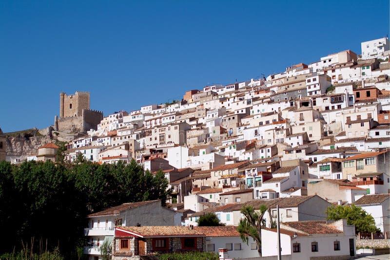 Alcala del Jucar (Albacete) in Spain. Alcala del Jucar (Albacete) rural town, top 100 most beautiful villages in Spain royalty free stock photos