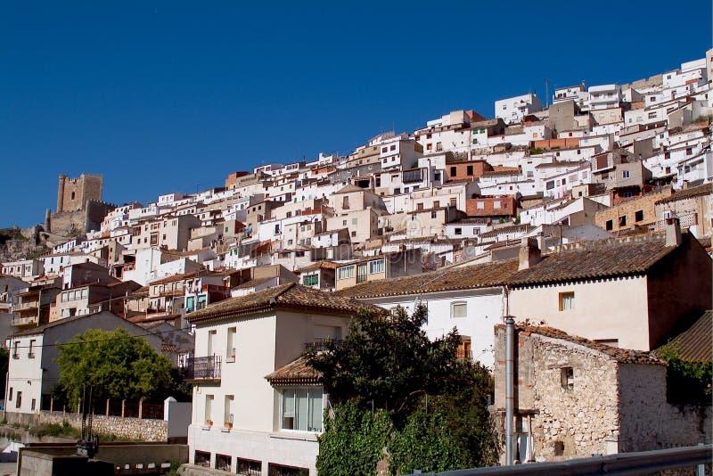 Alcala del Jucar (Albacete) in Spain. Alcala del Jucar (Albacete) rural town, top 100 most beautiful villages in Spain royalty free stock photography