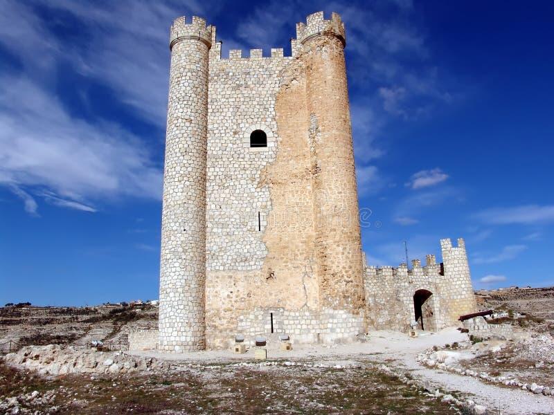 Alcala del Jucar (Albacete) Spanje stock foto's