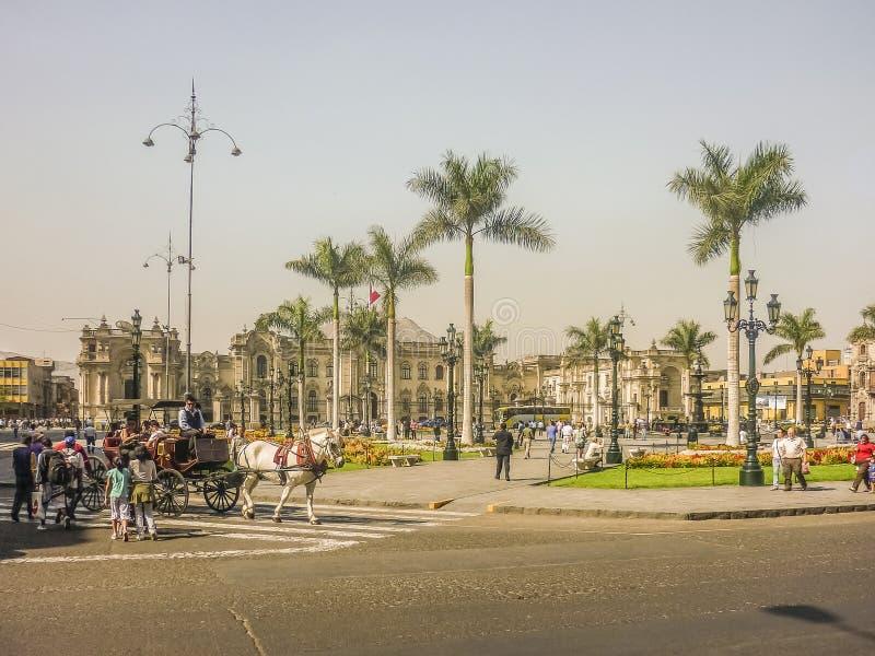 Alcalde de la plaza de Lima Peru imagen de archivo