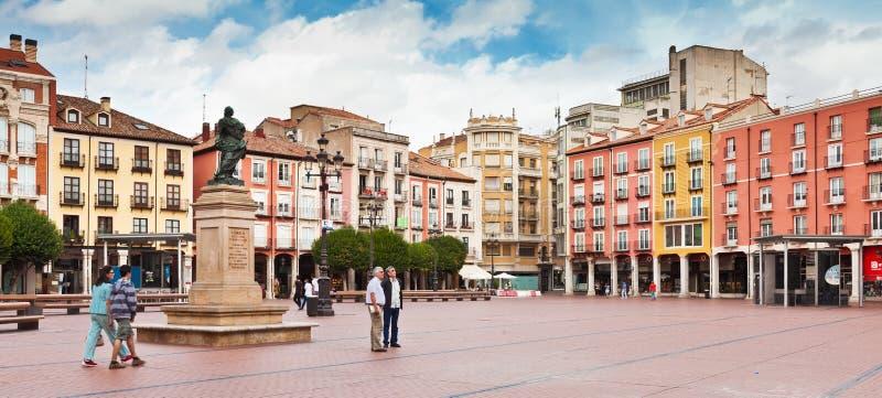 Alcalde de la plaza en Burgos, España fotografía de archivo