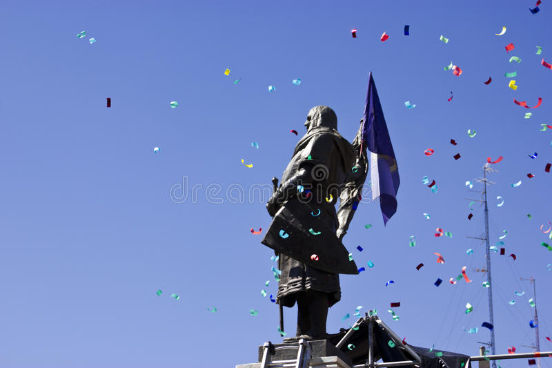 Alcalde de la plaza en Valladolid imágenes de archivo libres de regalías