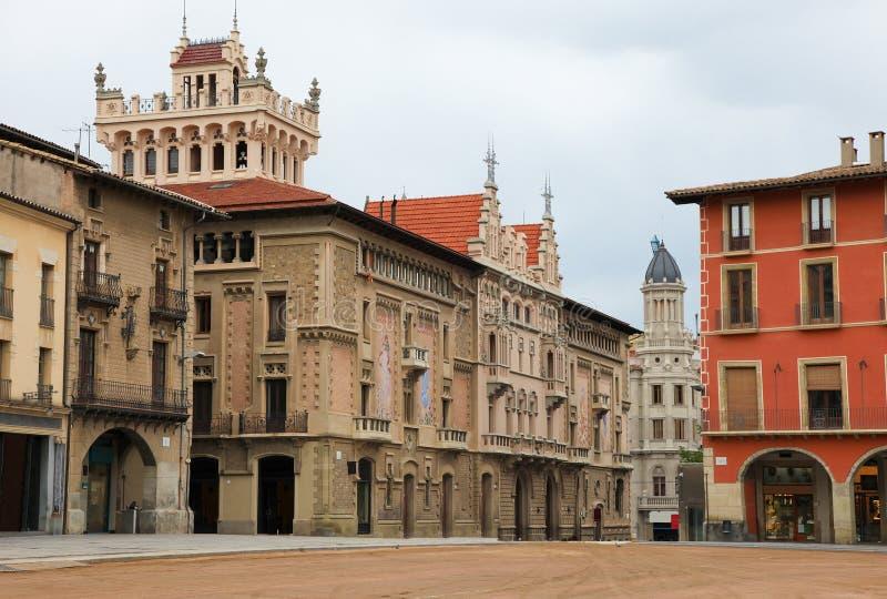 Alcalde de la plaza en Vic, Cataluña fotografía de archivo